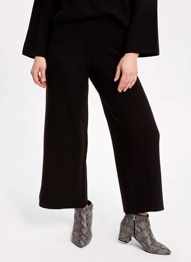 DeFacto Triko Culotte Pantolon Siyah